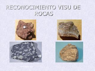 RECONOCIMIENTO VISU DE ROCAS