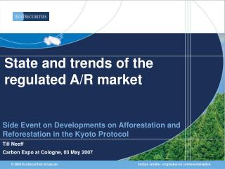 State and trends of the regulated A/R market