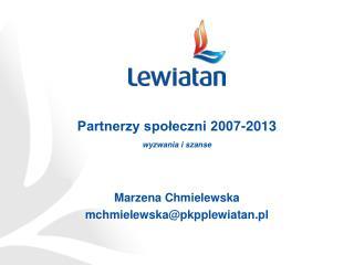 Partnerzy społeczni 2007-2013 wyzwania i szanse