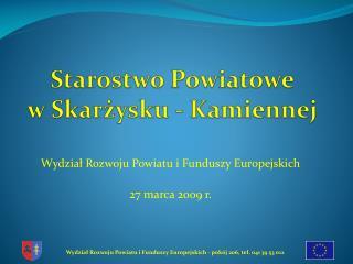 Starostwo Powiatowe  w Skarżysku - Kamiennej