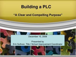 Building a PLC