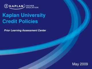 Kaplan University Credit Policies