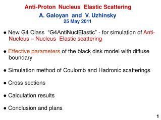 Anti-Proton  Nucleus  Elastic Scattering