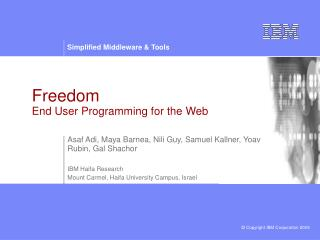Freedom  End User Programming for the Web
