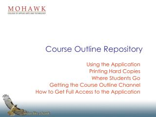 Course Outline Repository