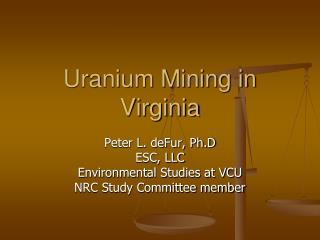 Uranium Mining in Virginia