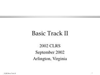 Basic Track II