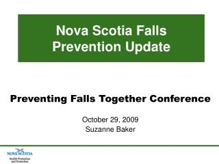 Nova Scotia Falls Prevention Update