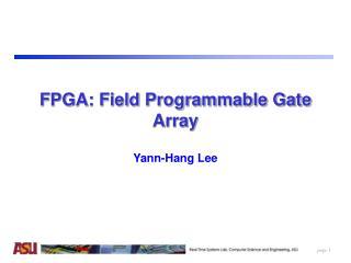 FPGA: Field Programmable Gate Array