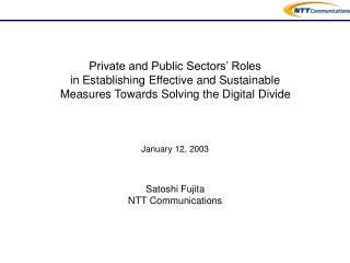 Private and Public Sectors' Roles