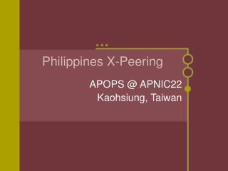 Philippines X-Peering