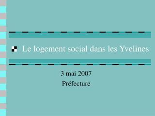 Le logement social dans les Yvelines
