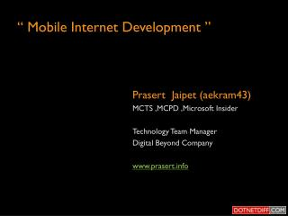 � Mobile Internet Development �