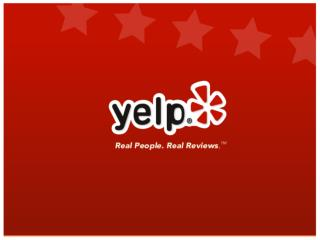 Why Yelp exists:
