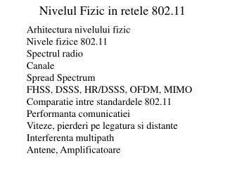 Nivelul Fizic in retele 802.11