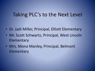 Taking PLC's to the Next Level