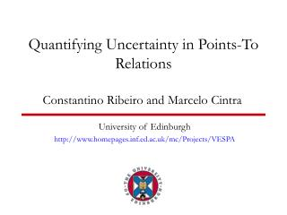 Quantifying Uncertainty in Points-To Relations