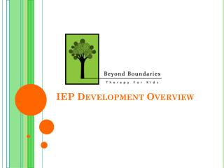 IEP Development Overview