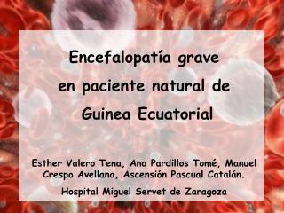 Encefalopatía grave  en paciente natural de  Guinea Ecuatorial