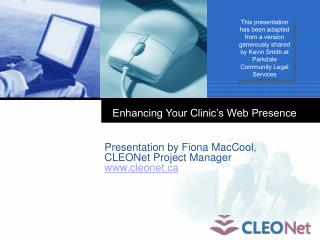 Enhancing Your Clinic's Web Presence