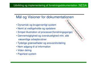Udvikling og implementering af forretningsdokumentation