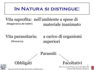In Natura si distingue: