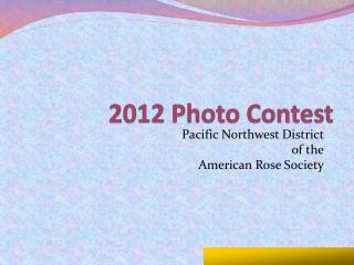 2012 Photo Contest