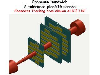 Panneaux sandwich à tolérance planéité serrée Chambres Tracking bras dimuon ALICE LHC