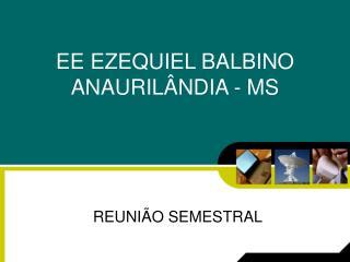 EE EZEQUIEL BALBINO ANAURILÂNDIA - MS