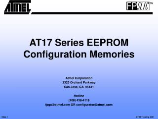 AT17 Series EEPROM Configuration Memories