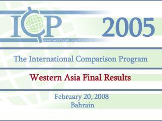 The International Comparison Program