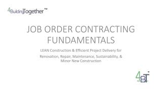 Fundamentals  of Contracting