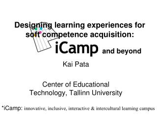 Designing  learning experiences for soft competence acquisition: