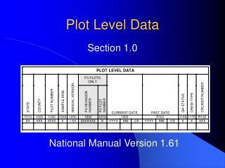 Plot Level Data