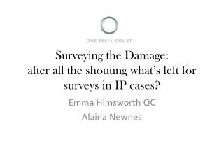 Surveying the Damage: after all the shouting what's left for surveys in IP cases?