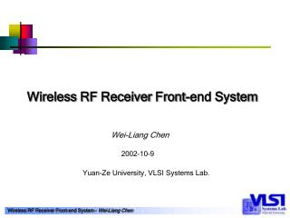 Wireless RF Receiver Front-end System