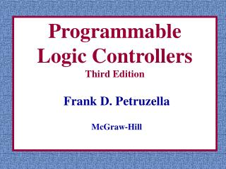 Programmable  Logic Controllers Third Edition