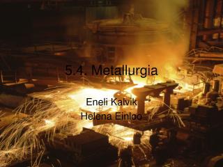 5.4. Metallurgia