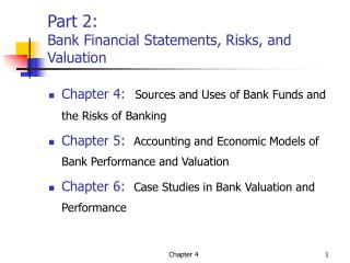Part 2: Bank Financial Statements, Risks, and Valuation