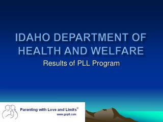 Idaho Department of Health and Welfare