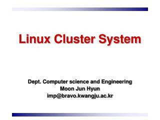 Linux Cluster System