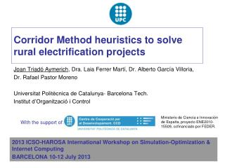 Corridor Method heuristics to solve rural electrification projects