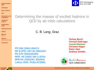 Determining the masses of excited hadrons in QCD by ab initio calculations