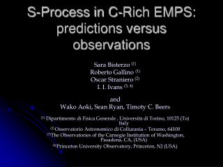 S-Process in C-Rich EMPS: predictions versus observations