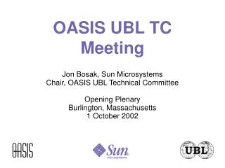 OASIS UBL TC Meeting