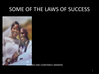 Laws of sucess