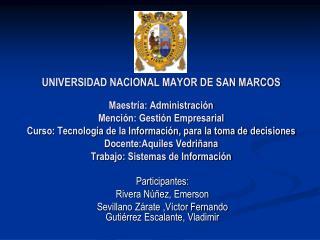 Participantes: Rivera Núñez, Emerson