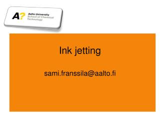 Ink jetting