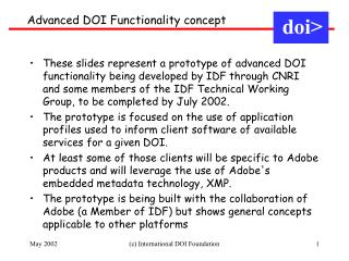 Advanced DOI Functionality concept