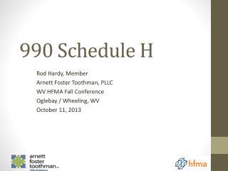 990 Schedule H